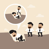 Ledership concept : Walking over manager body to C royalty free illustration