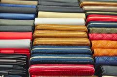 Lederwaren verkaufen im Einzelhandel Lizenzfreie Stockbilder