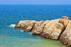 Ledge. Mediterranean landscape from Jijel Algeria Stock Images