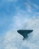 Ledge in the clouds Royalty Free Stock Photo