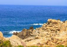Ledge. Landscape of a ledge in Jijel Algeria stock image