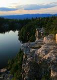 Ledge over Lake Minnewaska Royalty Free Stock Image
