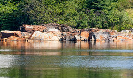 Ledge rocks of coastal Maine Royalty Free Stock Photos
