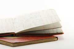Ledgers. Two financial ledgers on a white background Stock Image
