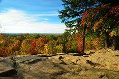 Ledges Overlook view in Autumn Stock Photography