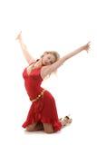 Ledi in red Royalty Free Stock Photo