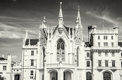 Lednice城堡是在南Mora的一个庄严, georgeous豪宅 库存照片