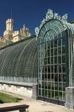 Lednice城堡的老温室 免版税库存照片
