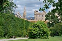 Lednice城堡,法国公园 免版税图库摄影