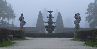 Lednice的法国庭院 免版税库存图片