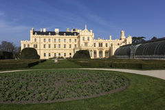 Lednice castle in Czech Republic Royalty Free Stock Photo