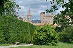 Lednice castle, French park. Lednice castle is a part of Lednicko-valtický area, natural complex reaching almost 300km2 Royalty Free Stock Photography
