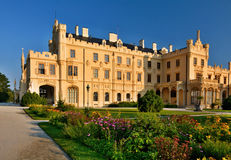 Lednice castle. Is a part of Lednicko-valtický area, natural complex reaching almost 300km2.nIn 18th and 19th century Lichtensteins built it hand in hand with Stock Images