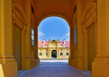 Lednice castle, stable. Lednice castle is a part of Lednicko-valtický area, natural complex reaching almost 300km2.nIn 18th and 19th century Lichtensteins built Stock Images