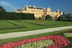 Lednice chateau Arkivfoton