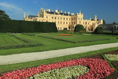 Lednice chateau. Seen from the park, Czech Republic Stock Photos