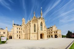 Lednice Chateau on summer day Stock Image