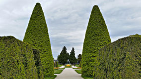 Lednice Gardens. Beautifully landscaped gardens in Lednice-Valtice Complex, Czech Republic Stock Photography