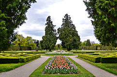 Lednice Gardens. Beautifully landscaped gardens in Lednice-Valtice Complex, Czech Republic stock photos