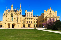 Lednice palace. Is one of the most impressive and most visited sights in the Czech Republic Stock Photos