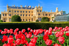 Lednice palace and gardens, Czech Re. Lednice palace is one of the most impressive and most visited sights in the Czech Republic Stock Image