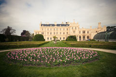 Lednice palace and park Royalty Free Stock Images
