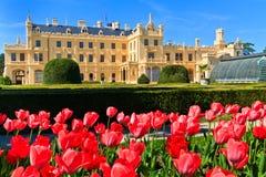 Lednice Palast und Gärten, tschechisch bezüglich stockbild