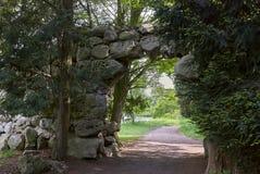 Lednice, Tchèque Republi - 7 mai 2013 : Lednice-Valtice - parc en Moravie du sud dans la République Tchèque Image stock