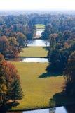 Lednice-Valtice - parque y el castillo Foto de archivo
