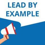 Ledning för textteckenvisning vid Motivational appell för exempel royaltyfri illustrationer