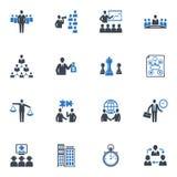 Ledning- och affärssymboler - blåttserie royaltyfri illustrationer