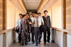 Ledning- och lagstudenter Arkivbild