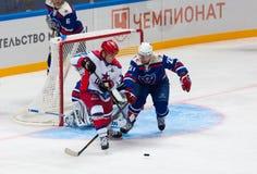 a Ledovskih (27) contre A Vinogradov (77) Photos libres de droits
