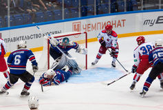 A. Ledovskih (27) fall into the gate Royalty Free Stock Image