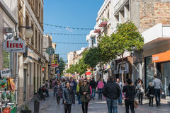 Ledra Street, Nicosia, Cyprus Royalty Free Stock Photo