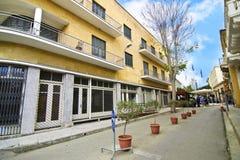 Ledrasstraat in Nicosia/Lefkosia Cyprus royalty-vrije stock afbeelding