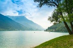 Ledro湖,意大利 库存照片