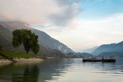 Ledro jezioro Obrazy Royalty Free