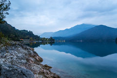 Ledro Lake stock images