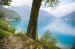 Ledro lake, Italy Royalty Free Stock Images