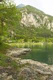 Ledro's lake. Landscape, paradise of ledro's lake Stock Images