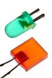 LEDs x 2 Royalty-vrije Stock Fotografie