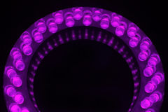LEDs. Arranged circular in front of a dark background royalty free stock photo