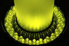 LEDs. Arranged circular in front of a dark background royalty free stock image