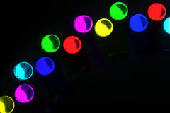 LEDs. Arranged circular in front of a dark background stock photography