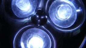 Leds. Blue futuristic chromic led lights Stock Photography