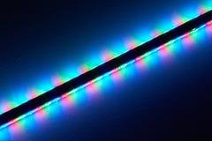 LEDs. Bright LEDs at a bar illuminate the ceiling Stock Photo