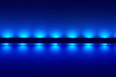 LEDs. Bright LEDs at a bar illuminate the ceiling Royalty Free Stock Photo