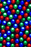Leds. Close-up of red,green and blue leds stock photo