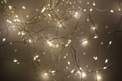 Leds. Decorate the rooms of the house with LED lights Stock Photography
